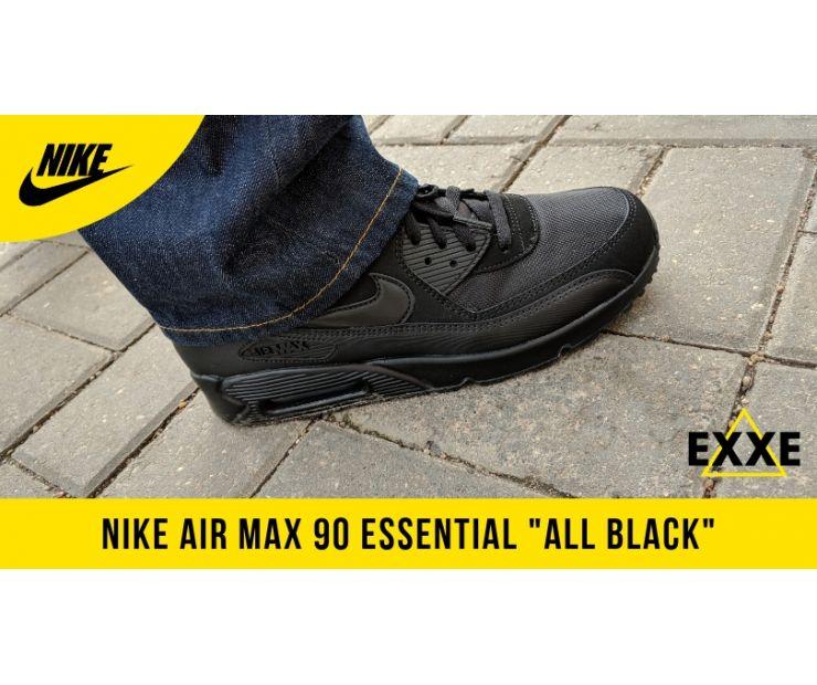 """КРОССОВКИ NIKE AIR MAX 90 ESSENTIAL """"ALL BLACK"""" - обзор модели"""