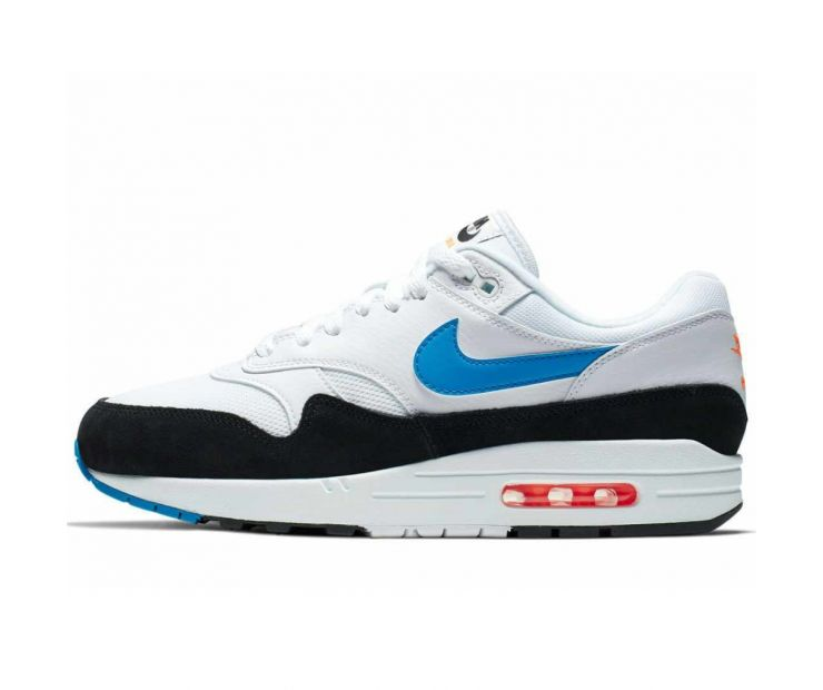 Кроссовки NIKE AIR MAX 1 (White/Blue)