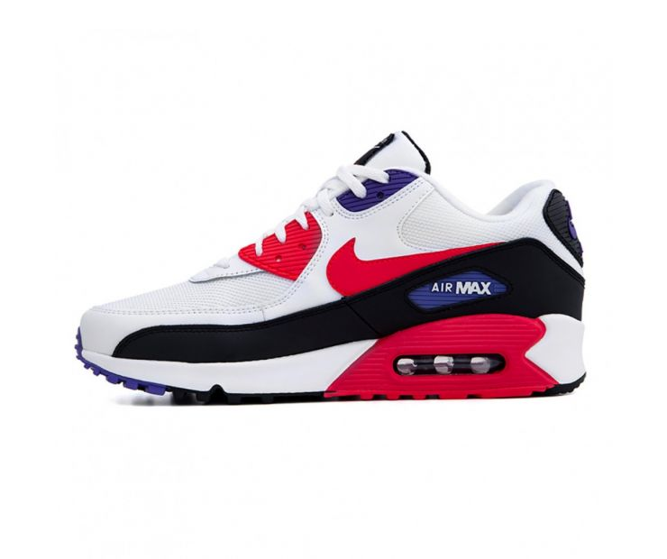 Кроссовки Nike Air Max 90 Essential White/Red Orbit-Psychic Purple