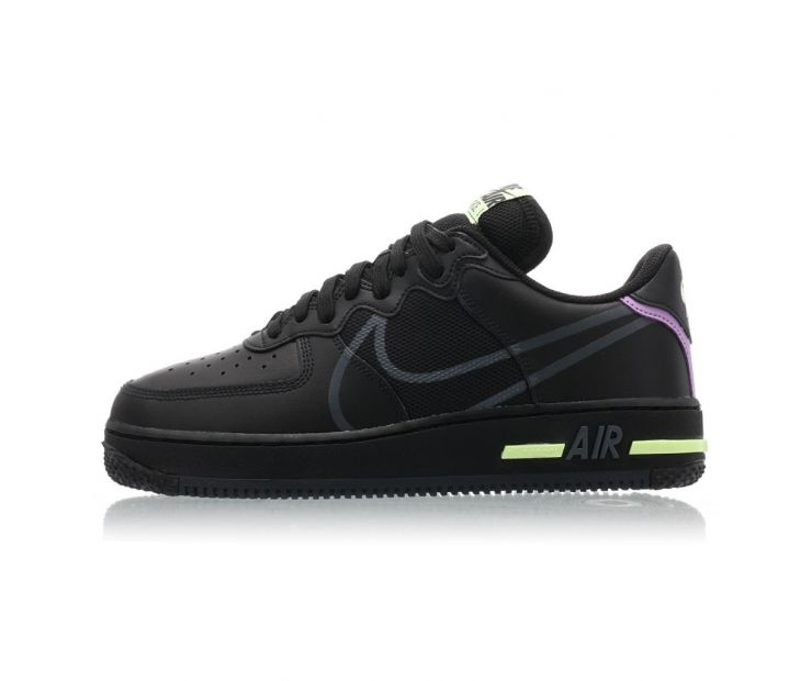 оригинальные Кроссовки NIKE AIR FORCE 1 REACT Black/Green/Purple