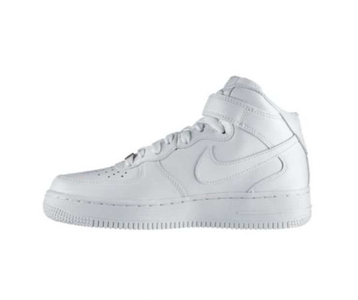 "Nike Wmns Air Force 1 Mid 07 ""All White"" Leather"